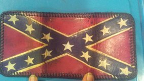 Hand-tooled leather wallet in Fort Polk, Louisiana