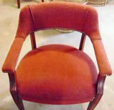 2 RED FABRIC CHAIRS - NEED TO BE CLEANED in Morris, Illinois