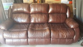 Reclining Leather Couch in Travis AFB, California