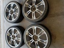 4 rims with tires for sale in Fort Bliss, Texas