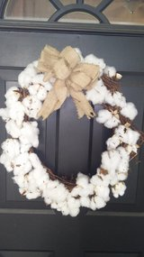 Cotton wreath in Warner Robins, Georgia