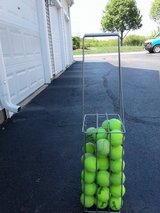 Tennis balls and carrier in Aurora, Illinois