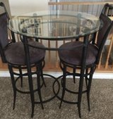 Pub set glass table with tall swivel bar stool in Las Vegas, Nevada