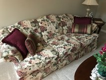 Couch with floral pattern in Yorkville, Illinois