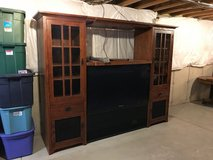 48 Inch projection TV with wood entertainment center in Yorkville, Illinois
