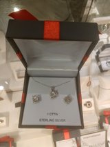 3 piece JCPenney's set diamond earrings and necklace in Yucca Valley, California