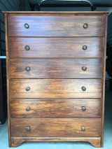 6 DRAWER STAINED PINE CHEST OF DRAWERS in Beaufort, South Carolina