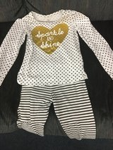 2 pc outfit 4T gold,black and white in Hopkinsville, Kentucky