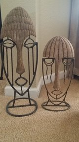 2 Large tabletop Iron Mask in Travis AFB, California