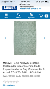 2 Mohawk Seafoam 8x9 area rugs in Watertown, New York