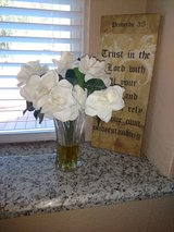 Artificial  White Rose Arrangement in Kingwood, Texas