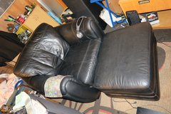 very big Premium Leather chair & otoman (phone only) in Okinawa, Japan