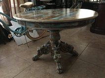 Antique Table / appears to be hand carved wolfs on the legs in Kingwood, Texas