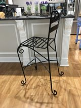 Set of three wrought iron bar stools. in Perry, Georgia