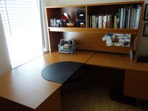 L-Shape Wooden Office Desk with Book Shelf in Schaumburg, Illinois