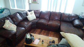 Real leather sectional in San Clemente, California