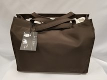 NEW Nicole Miller Espresso Microfiber diaper bag with accessories in Westmont, Illinois