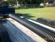 """12"""" wide x 16' long black plastic corrugated culvert / drainage pipe in Cleveland, Texas"""