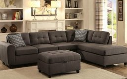 CHARCOAL SECTIONAL FREE DELIVERY in Huntington Beach, California