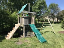 Swing set in Wheaton, Illinois