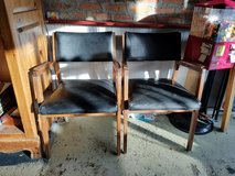 2 ALMA DESK CO MID CENTURY MODERN TEAK OR ROSEWOOD CHAIRS in Westmont, Illinois
