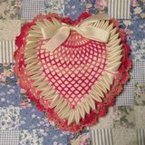 "Heart Pillow, 10"" by 9"" inches in Tomball, Texas"