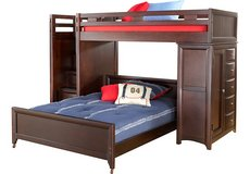 6-piece Cherry Wood Step Loft Bunk Bed with Chest in Fort Bliss, Texas
