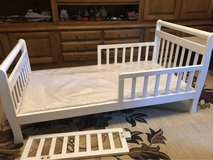 Toddler bed with tray and mattress in excellent condition.w in Ramstein, Germany