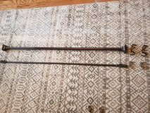 "2 sets of curtain rods to fit 48""-94"" ($8 per rod and hardware set or both sets for $15) in Cochran, Georgia"
