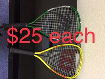 misc racquetball racquets mcgregor or wilson, used in Okinawa, Japan