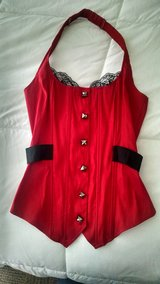 Red corset vest blouse ( size: Small ) in Watertown, New York