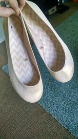 Nude/gold flats ( size 7) in Fort Drum, New York