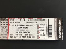 2 Tickets to John Prine Concert in Yucca Valley, California