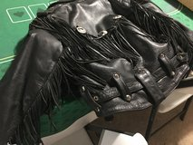 Motorcycle jacket - black with fringe in Fort Campbell, Kentucky