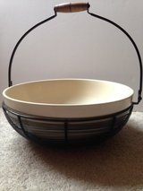 Bowl in wire basket in Naperville, Illinois