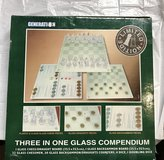 GLASS  Combination CHESS BOARD SET in Houston, Texas