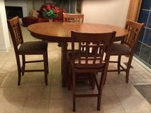 Counter height table, leaf & 4 chairs in Algonquin, Illinois