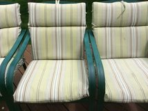 Set of 6 patio chairs with cushions in Wheaton, Illinois