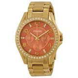 FOSSIL Riley Multi-Function Coral Dial Gold-tone Ladies Watch ES3530 in Beaufort, South Carolina