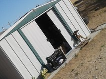 Metal shed in Yucca Valley, California