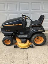 """Poplan pro garden tractor 26hp. twin motor 48"""" deck hydro trans. need some repairs or part it out in Yorkville, Illinois"""