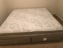1 year old King a Size Mattress, 2 twin box springs and mattress cover in Leesville, Louisiana
