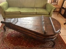 Rare Antique Coffee Table, French Blacksmith Bellows, Forge Blower in Ramstein, Germany