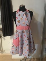 Women's Purple/Pink Cupcake Apron with scrunchie in Ramstein, Germany