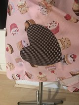Girls Pink/Brown Cupcake Apron with scrunchie in Ramstein, Germany