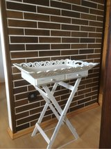 white shabby chic tray with stand in Baumholder, GE