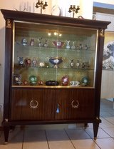 French Vintage China Cabinet / Vitrine Display Cabinet in Ramstein, Germany