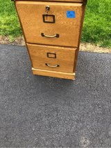 Locking Wood File Cabinet in Naperville, Illinois