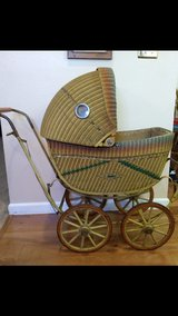 Antique Wicker Baby Buggy Stroller Carriage Doll Old Vintage in Vacaville, California