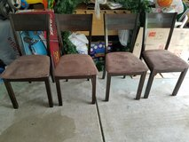 4 wood chairs in Bolingbrook, Illinois